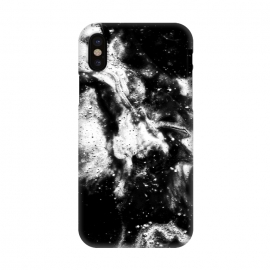 iPhone X  BW2 by Ashley Camille (black and white,black,white,paint,abstract)