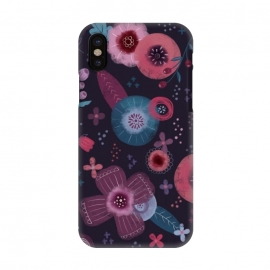 iPhone X  Autumn Floral by Noonday Design