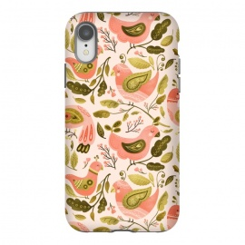 iPhone Xr  Peachy Keen Birds by Noonday Design
