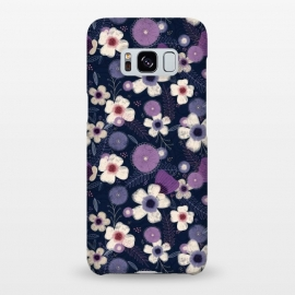Galaxy S8+  Navy & Purple Floral by Noonday Design