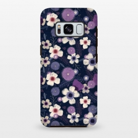 Galaxy S8 plus  Navy & Purple Floral by