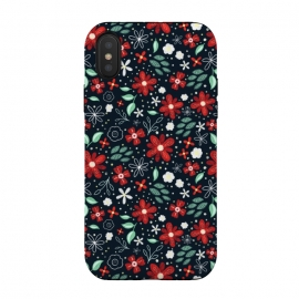 iPhone Xs / X  Little Christmas Flowers by