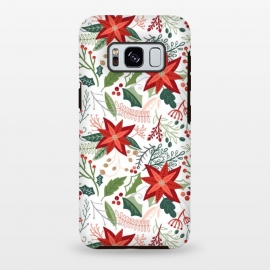 Galaxy S8+  Festive Poinsettias by Noonday Design