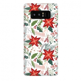 Galaxy Note 8  Festive Poinsettias by Noonday Design