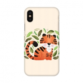 iPhone X  Tiger Cutie by Noonday Design