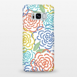 Galaxy S8+  Roses I by TracyLucy Designs (floral,roses,illustration,colorful)