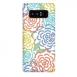Galaxy Note 8  Roses I by TracyLucy Designs (floral,roses,illustration,colorful)