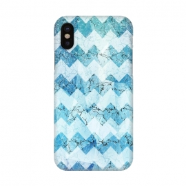 iPhone X  Blue chevron by Jms