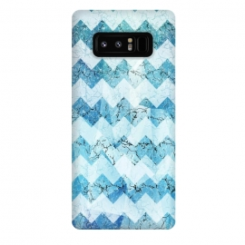 Galaxy Note 8  Blue chevron by Jms