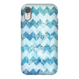 iPhone Xr  Blue chevron by Jms