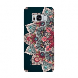 Galaxy S8  Winter holidays doodles mandala design by InovArts