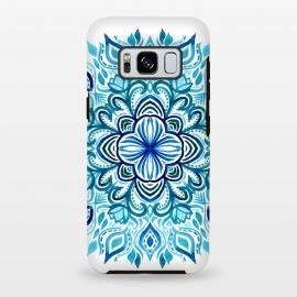 Galaxy S8 plus  Watercolor Blues Lotus Mandala by