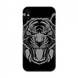 iPhone Xs / X  Tiger Zentangle by Afif Quilimo