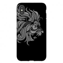 iPhone Xs Max  Lion Zentangle by Afif Quilimo