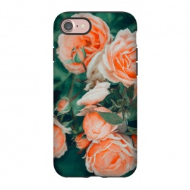 iPhone 8/7  Seasons Blossom by Uma Prabhakar Gokhale (acrylic, floral, nature, blush, filter, botanical, roses, garden, coral, flowers, blossom, bloom)