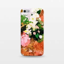 iPhone 5/5E/5s  Floral Gift || by Uma Prabhakar Gokhale (watercolor, floral, fall, spring, nature, woman, botanical, blossom, bloom, flourish)