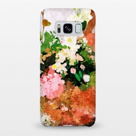 Galaxy S8+  Floral Gift || by Uma Prabhakar Gokhale (watercolor, floral, fall, spring, nature, woman, botanical, blossom, bloom, flourish)