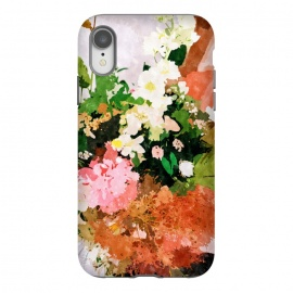 iPhone Xr  Floral Gift || by Uma Prabhakar Gokhale (watercolor, floral, fall, spring, nature, woman, botanical, blossom, bloom, flourish)