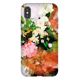 iPhone Xs Max  Floral Gift || by Uma Prabhakar Gokhale (watercolor, floral, fall, spring, nature, woman, botanical, blossom, bloom, flourish)