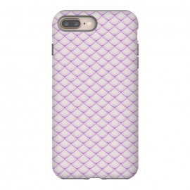Pink Fish Scale Pattern by Art Design Works