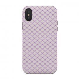 iPhone Xs / X  Pink Fish Scale Pattern by Art Design Works