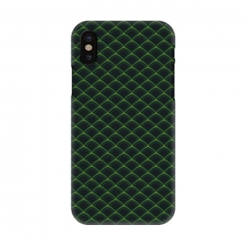 iPhone X  Reptile Scales Pattern by Art Design Works
