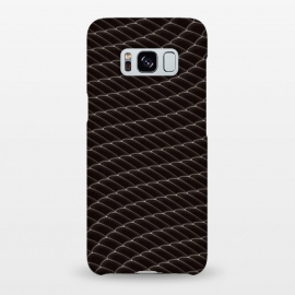 Galaxy S8+  Black Snake Scale Pattern by Art Design Works