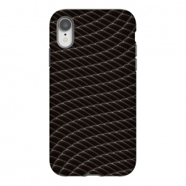 iPhone Xr  Black Snake Scale Pattern by Art Design Works