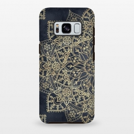Galaxy S8+  Elegant poinsettia flower and snowflakes mandala art by InovArts