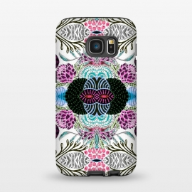 Galaxy S7  Whimsical tribal mask abstract design by InovArts