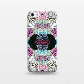 iPhone 5C  Whimsical tribal mask abstract design by InovArts
