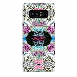 Galaxy Note 8  Whimsical tribal mask abstract design by