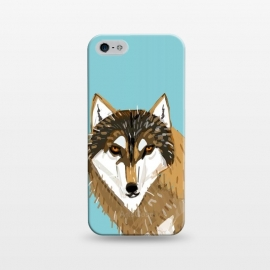 iPhone 5/5E/5s  European gry wolf by Belette Le Pink