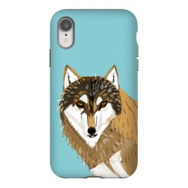 iPhone Xr  European gry wolf by Belette Le Pink