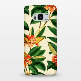 Galaxy S8+  Orange Flower Print by Zala Farah