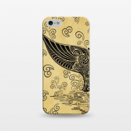 iPhone 5/5E/5s  Whale Tail Boho Vintage Tattoo Style by