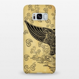 Galaxy S8+  Whale Tail Boho Vintage Tattoo Style by BluedarkArt