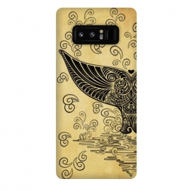 Galaxy Note 8  Whale Tail Boho Vintage Tattoo Style by BluedarkArt