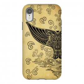 iPhone Xr  Whale Tail Boho Vintage Tattoo Style by