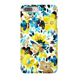 Happy Yellow & Turquoise Floral Collage by Micklyn Le Feuvre