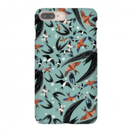 Bird pattern in turquoise by Belette Le Pink
