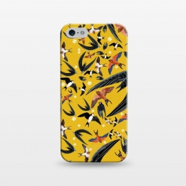 iPhone 5/5E/5s  Birds pattern in yellow by Belette Le Pink