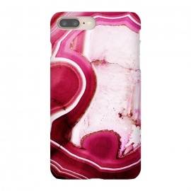 iPhone 8/7 plus  Vibrant pink agate marble by