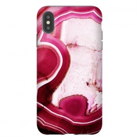 iPhone Xs Max  Vibrant pink agate marble by Oana
