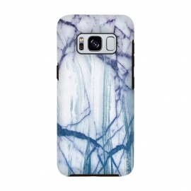 Galaxy S8  Blue white marble brushstrokes by Oana