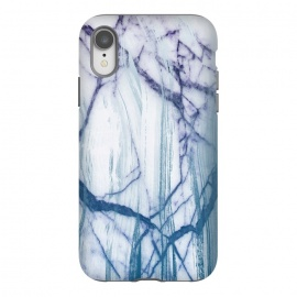 iPhone Xr  Blue white marble brushstrokes by