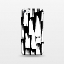 iPhone 5C  Tribal white brushstrokes on black background by Oana