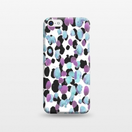 iPhone 5C  Purple blue animal print paint spots by Oana