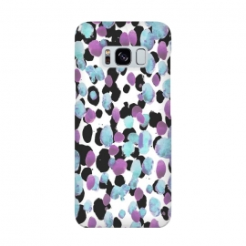 Purple blue animal print paint spots by Oana