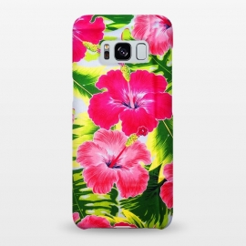 Galaxy S8+  Hibiscus Exotic Floral Pattern by BluedarkArt